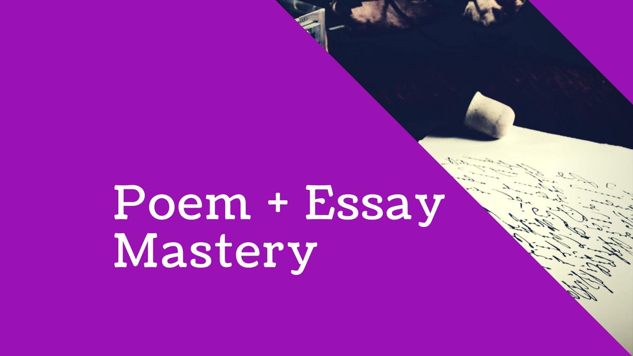English: Poem + Essay Mastery Exam Strategies